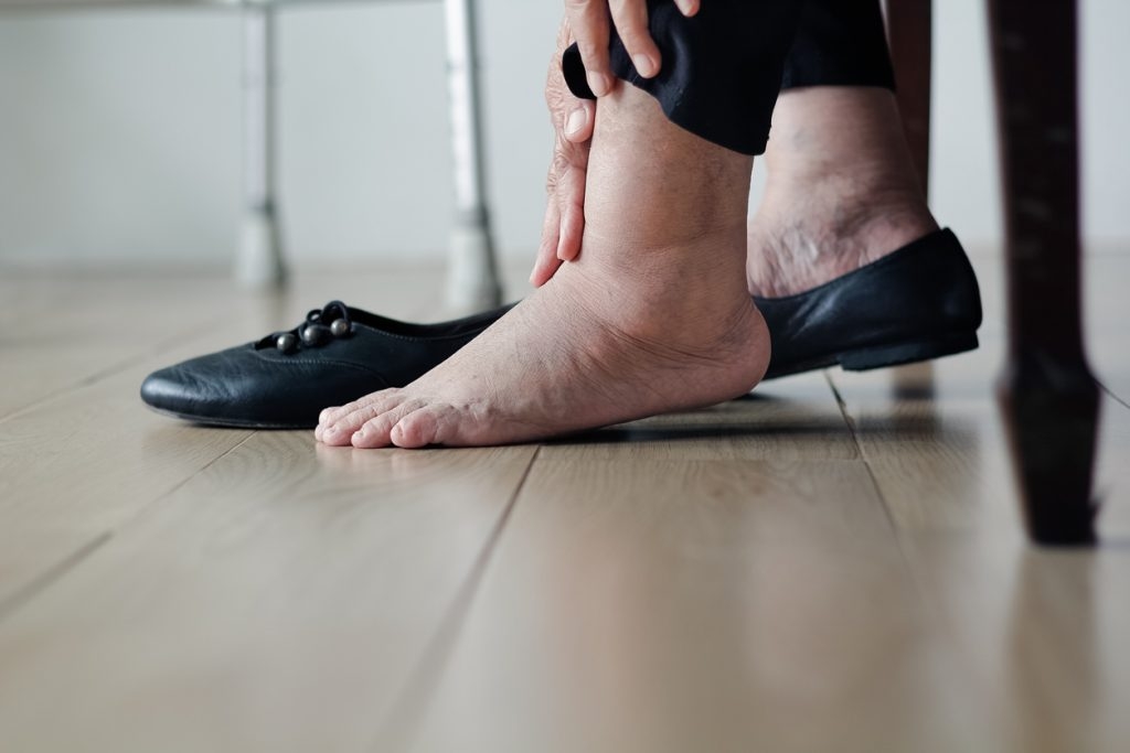 Diabetic care includes wearing the proper shoes and footwear.